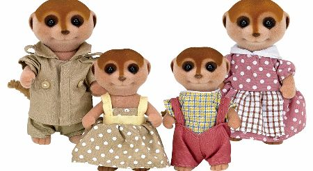 The Sylvanian Families Meerkat Family Set includes Father Harry, Mother Beatrix, and children Alfie and Gail Spotter. The Meerkats are very watchful and keep a look out for forest fires in Sylvania. - CLICK FOR MORE INFORMATION