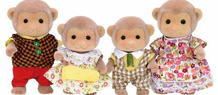 The Sylvanian Families Monkey Family Set includes Father Geoff Darwin, who is a famous botanist in Sylvania, and his wife Shirley with children Simon and Katie. - CLICK FOR MORE INFORMATION