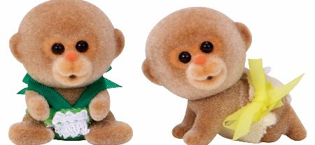 The Sylvanian Families Monkey Twin Babies set includes twin Monkey babies Bobo and Bubbles Darwin. - CLICK FOR MORE INFORMATION
