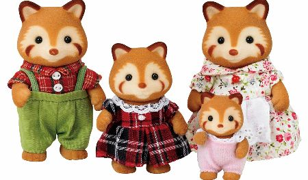 The Sylvanian Families Red Panda Family Set includes Mother Fliss, Father Merlot, Sister Frances and baby girl Cali Robinson. - CLICK FOR MORE INFORMATION