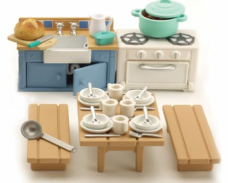 Sylvanian Families are an adorable range of distinctive animal characters with charming and beautiful homes, furniture and accessories. They live, work and play in the idyllic and wonderful land of Sylvania. The Sylvanian Families Rustic Kitchen comp - CLICK FOR MORE INFORMATION