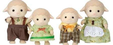 The Sylvanian Families Sheep Family Set includes the Dales - Father Ewan, Mother Barbara, Brother Winton and Sister look after the orchards in Sylvania. - CLICK FOR MORE INFORMATION