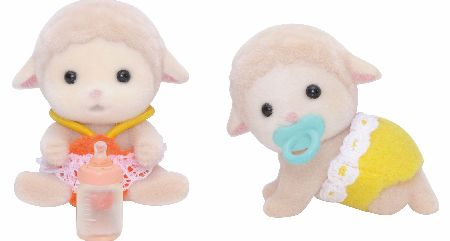 Sylvanian Families Sheep Twin Babies set includes Brother Sean and baby sister Shona Dale. - CLICK FOR MORE INFORMATION