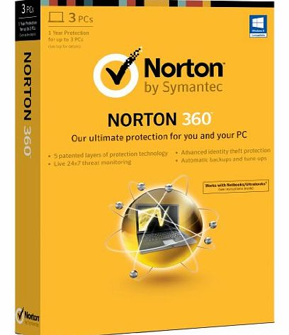 Norton 360 2013 - 1 User, 3 PCs, 1 Year Subscription - CLICK FOR MORE INFORMATION