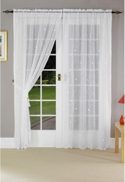 white voile. Black Bedroom Furniture Sets. Home Design Ideas