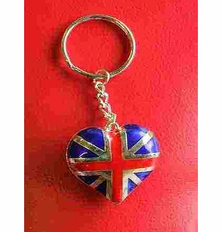 SystemsEleven I Love London England UK GB Novelty Gift Union Jack Heart Flag Keyrings Souvenir