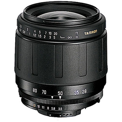 A standard zoom lens from a wide 28mm to a medium telephoto range of 80mm. The use of aspherical elements in the front group reduces the number of elements required, and the use of strong engineering plastic in the barrel makes the body a light 237g. - CLICK FOR MORE INFORMATION