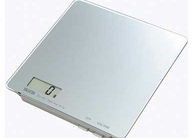 Tanita 3Kg Glass Digital Kitchen Scale - Silver product image