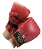 Leather Pro Mitts Red S