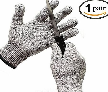 Taps UK Level 5 Hand Protection Cut Resistant Work Gloves, Kitchen Glove/Food Grade Safety Gloves/Builder Gloves, One Pair