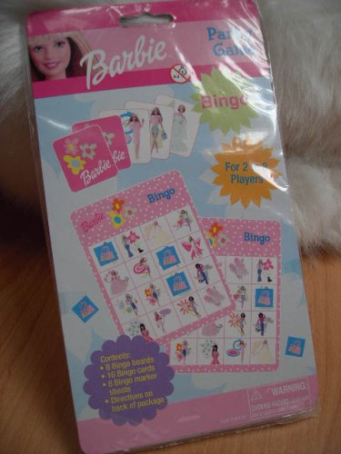GIRLS BARBIE BINGO PARTY GAME 2-8 PLAYERS