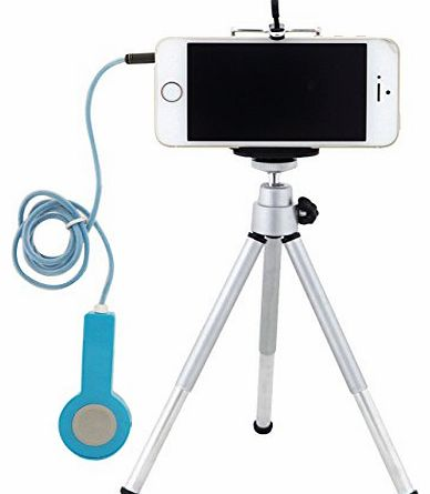 TARION Cell Phone Clip for iPhone 5S 5C 4S 4 3GS iPod 5 iPad Air Mini New and Camera Shutter Remote Cable Release with Tripod Mount