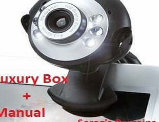 Techno USB Webcam 20MP 6 LED 20 MegaPixel Web Cam, Built-in Microphone Mic for Laptop PC Vista windows 7 Wi