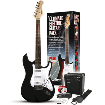 technote rockburn electric guitar pack in black review compare prices buy online. Black Bedroom Furniture Sets. Home Design Ideas