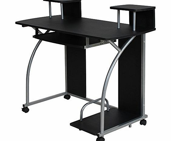 TecTake Computer Desk Work Table Youth Student Office Work station furniture black