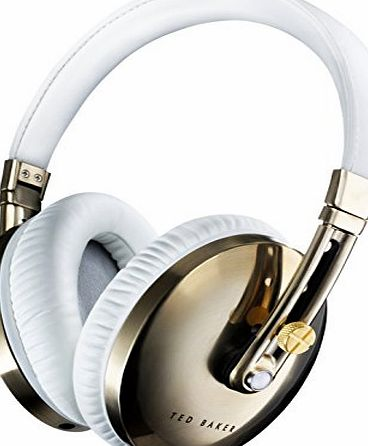 Ted Baker London Rockall High-Performance Folding Over-Ear Headphones - White/Gold