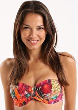 Ted Baker, 1295[^]245913 Paisley Toucan Padded Bikini Top - Bright Pink