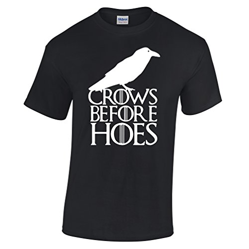 Tedim Crows before Hoes T Shirt Inspired by Game of Thrones John Snow Nights Watch TV Cool product image
