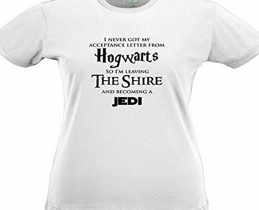 Tedim HOGWARTS LOTR JEDI Tshirt Star Wars Hobbit Harry Potter Lord of The Rings Womens Slim Fit Xsmall - Xlarge Multiple Colours