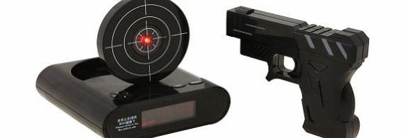 New Laser Infrared Gun Alarm Clock Recordable Shooting Game Toy Gift LCD Display