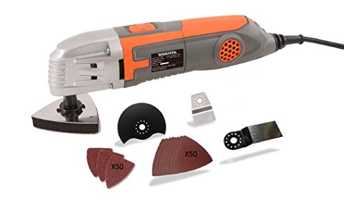 Terratek Oscillating Variable speed Multi-Tool with 115 Piece accessory kit,Ideal for Cutting,scraping & sanding product image