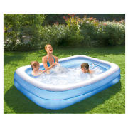 Tesco deluxe family pool review compare prices buy online for Garden pool tesco