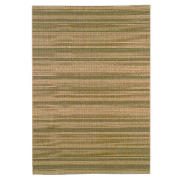 Tesco Flatweave Stripes, Green 120X170cm