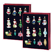 tesco Glass Figurine Decorations 2x12 piece product image