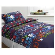 Bedding Tesco Kids Black Graffiti D