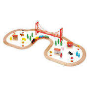 Little Steps Wooden 56 Piece Train Set