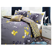 Tesco Luang Print Duvet Set Double, Midnight