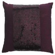 tesco sequin cushion plum 40x40cm review compare prices. Black Bedroom Furniture Sets. Home Design Ideas