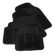 Set of 4 Rubber Car Mats- Black