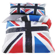 Union Jack Print Single, Black & Grey