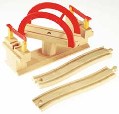 Tesco wooden toy train sets for Wooden swing set with bridge