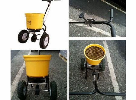 Texas Spreader for spreading salt, seed, fertilizer or gravel