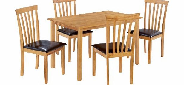 Tgb dining room furniture worldstores newark 110cm dining for 4 seater dining room set
