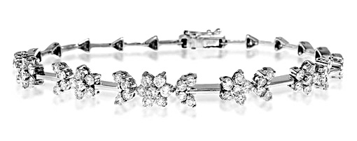 The Diamond Store.co.uk 18K WHITE GOLD DIAMOND BRACELET 2.20CT
