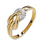 The Diamond Store.co.uk 9K YG Diamond Knot Ring product image