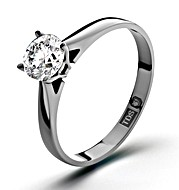 The Diamond Store.co.uk Certified 0.50CT Petra 18K White Gold Engagement Ring H/SI2
