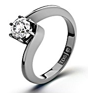 The Diamond Store.co.uk Certified 0.70CT Leah Platinum Engagement Ring H/SI2
