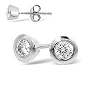 The Diamond Store.co.uk EMILY PLATINUM DIAMOND STUD EARRINGS 0.30CT G/VS product image
