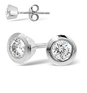The Diamond Store.co.uk EMILY PLATINUM DIAMOND STUD EARRINGS 0.50CT G/VS product image