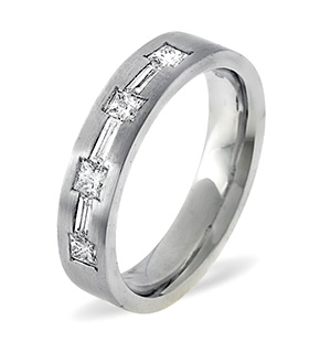 The Diamond Store.co.uk Katie 18K White Gold Diamond Wedding Ring 0.49CT product image
