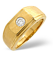 The Diamond Store.co.uk Mens Ring 0.20CT Diamond 9K Yellow Gold product image