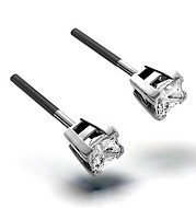 The Diamond Store.co.uk OLIVIA PLATINUM DIAMOND STUD EARRINGS 0.30CT H/SI product image