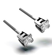 The Diamond Store.co.uk OLIVIA PLATINUM DIAMOND STUD EARRINGS 0.66CT H/SI product image