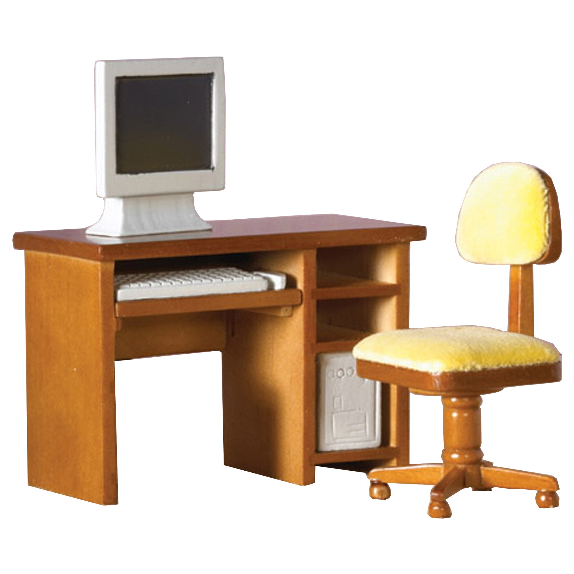 home office set from the dolls house emporium includes a desk chair
