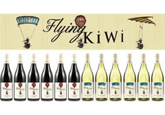 The Flying Kiwi 12-bottle mixed case containing product image