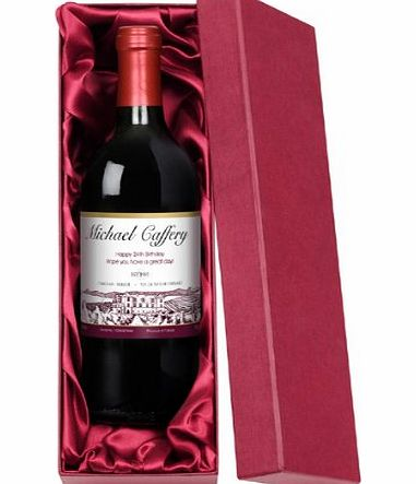 The Gift Experience Personalised Red Wine Boxed product image